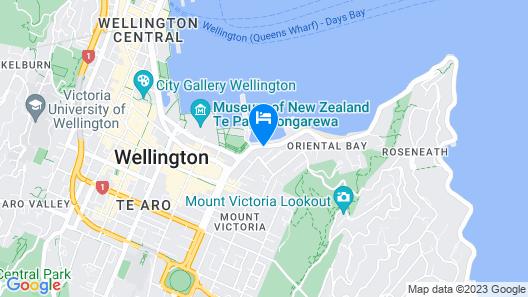 Copthorne Hotel Wellington, Oriental Bay Map