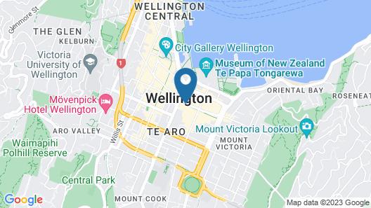 Oaks Wellington Hotel Map