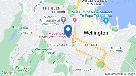 Grand Mercure Wellington Map