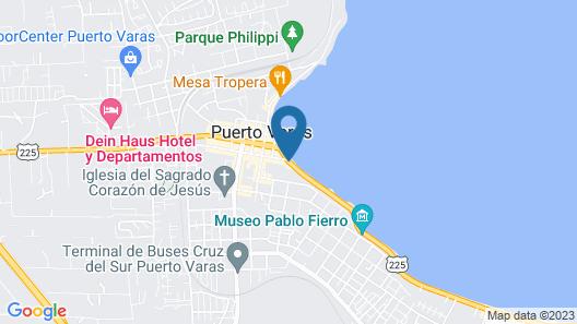 Hotel Dreams de los Volcanes -Puerto Varas Map