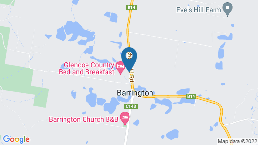 Glencoe Country Bed and Breakfast Map