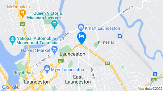 Elphin Motel & Serviced Apartments Map