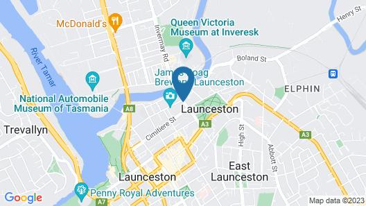 The Grand Hotel Launceston Map