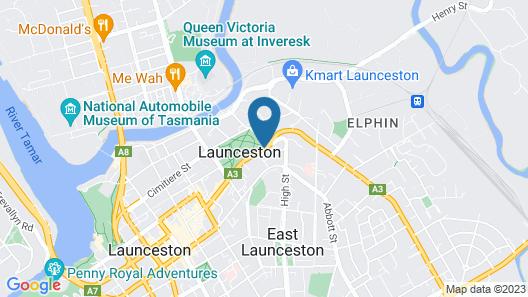 Hotel Launceston Map