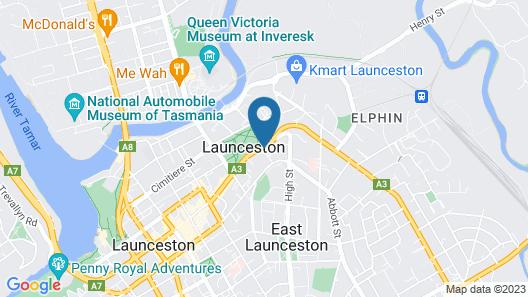Launceston City Park Apartments Map