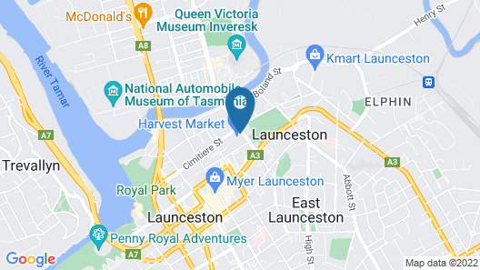 Hotel Verge Launceston Map