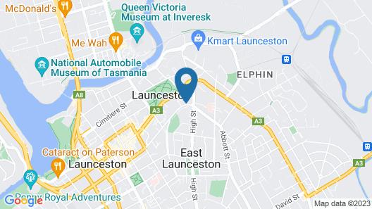 Coach House Launceston Map