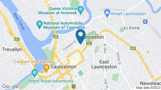 Hotel Grand Chancellor Launceston Map
