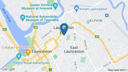 CBD Apartments Launceston Map