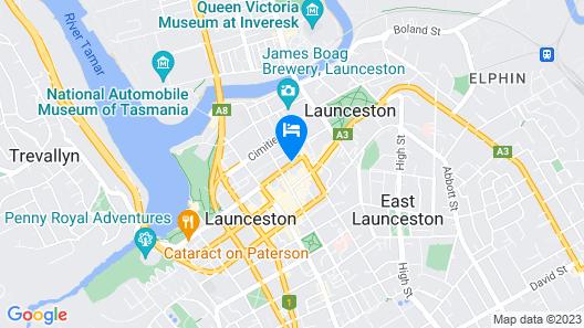 Quest Launceston Serviced Apartments Map