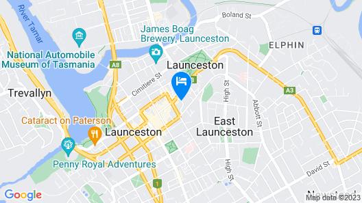 Best Western Plus Launceston Map