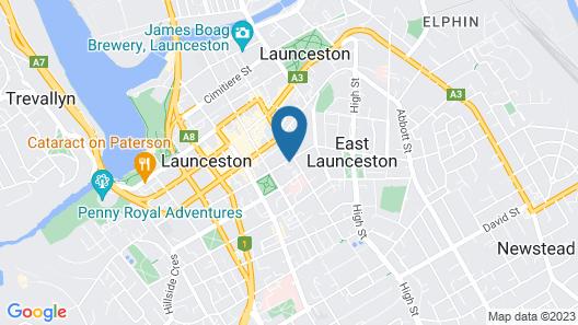 Quality Hotel Colonial Launceston Map