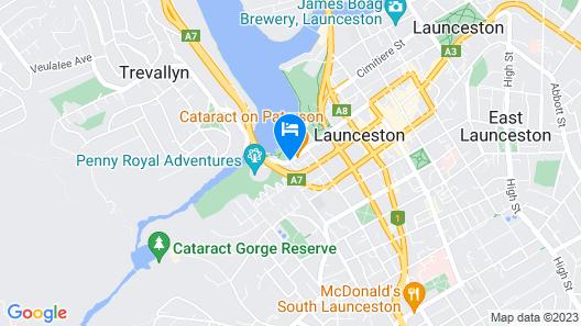 Leisure Inn Penny Royal Hotel & Apartments Map