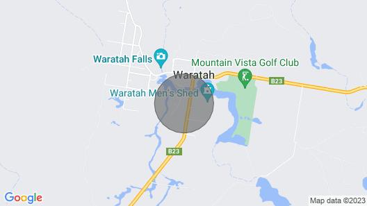 The Wombat Burrow - Waratah.  For Cradle Mountain & Tarkine. Map