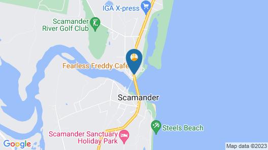 Pelican Sands Scamander Map