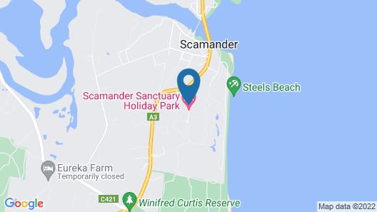 Scamander Sanctuary Holiday Park Map