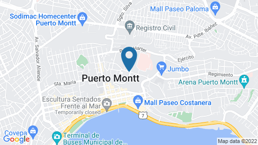 Hotel Manquehue Puerto Montt Map
