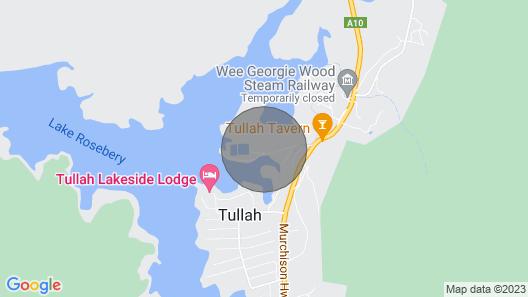Tullah Hideaway - Lakeside & Mountain Views Map
