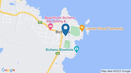 Apartments on Fraser Bicheno Map