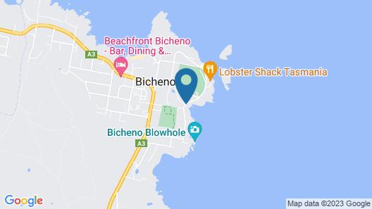 Bicheno by the Bay Map