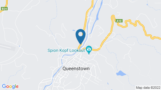 Mountain View Motel Queenstown Map