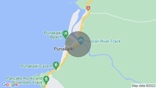 Punakaiki River Cottage Map