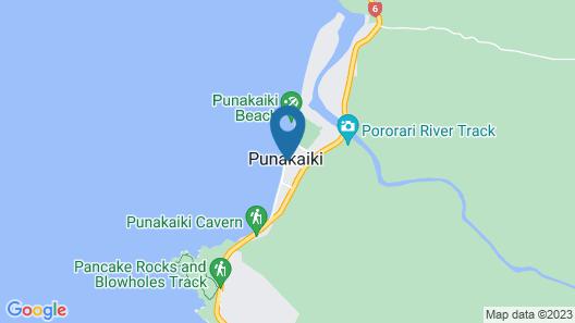 Punakaiki Beach Hostel Map
