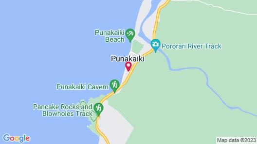Punakaiki Beachfront Motels Map