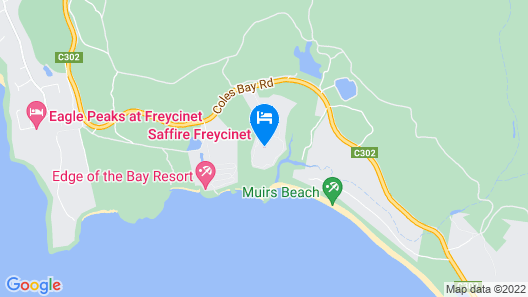Saffire Freycinet Map