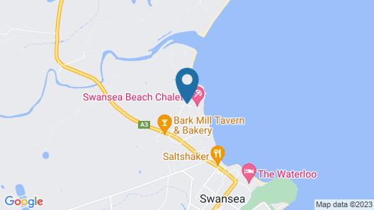 Swansea Beach Chalets Map