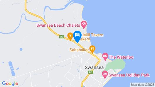 Swansea Cottages & Motel Suites Map