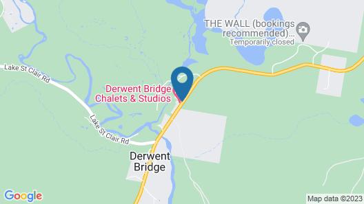 Derwent Bridge Chalets & Studios Map