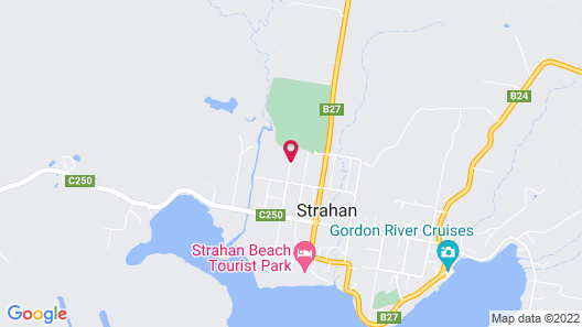 Greengate Cottages Strahan Map