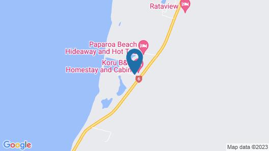 Koru Beach Cabin & B&B Homestay Map