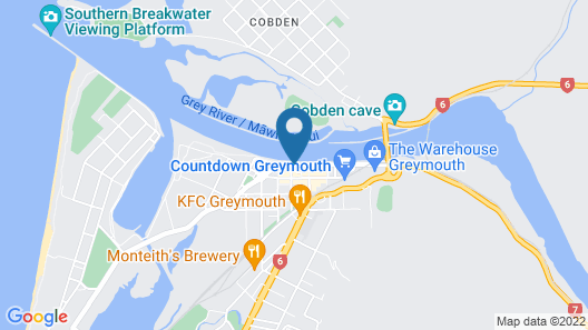 Kingsgate Hotel Greymouth Map