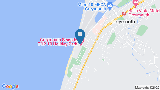 Greymouth Seaside TOP 10 Holiday Park Map