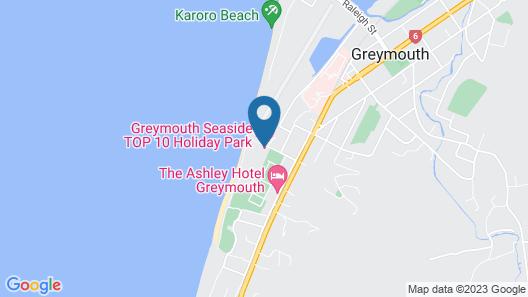Greymouth Motels & Seaview Apartments Map