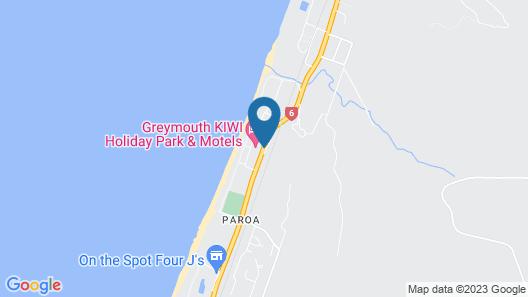Greymouth KIWI Holiday Parks & Motels Map