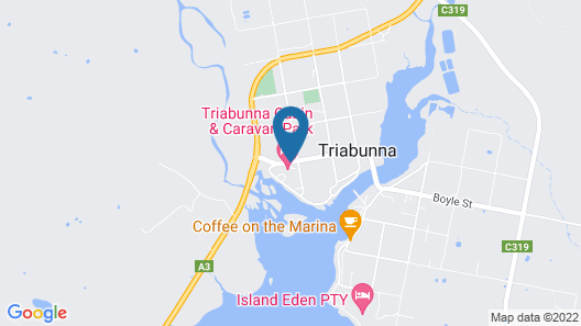 Triabunna Cabin and Caravan Park Map