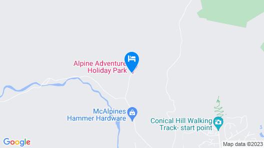 Alpine Adventure Holiday Park Map
