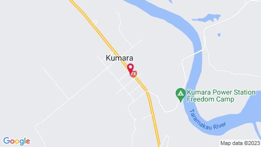 Kumara Historic Cottages Map