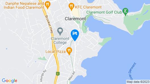 Claremont Hotel Motel Map