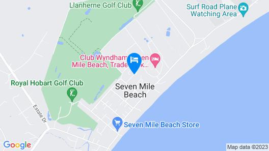 Seven Mile Beach Cabin and Caravan Park Map