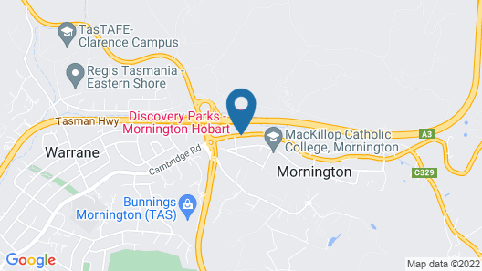Discovery Parks – Mornington Hobart Map