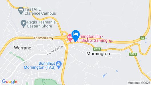 Discovery Parks – Mornington Hobart Map