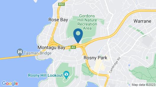 City View Motel, Hobart Map