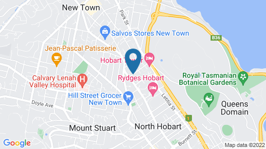 Hobart Gables Map