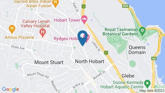 Rydges Hobart Map
