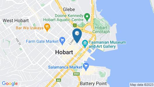 Vibe Hotel Hobart Map