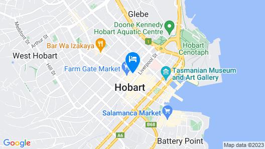 Hobart City Apartments Map